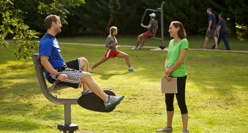 UP163 Recumbent Cycle for Outdoor Fitness Parks