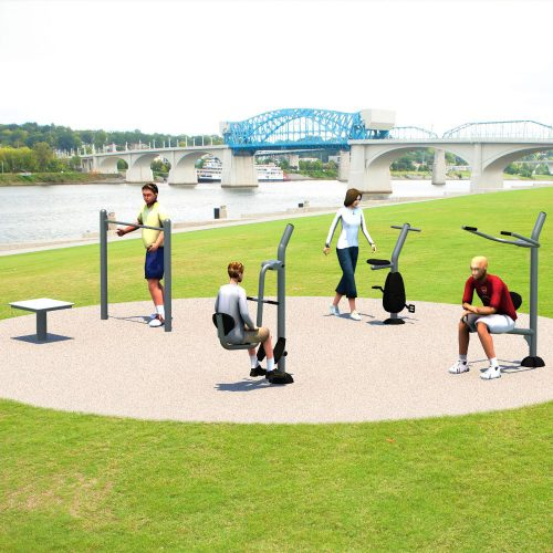 UP303 Pocket Park Kit A - Outdoor Fitness Package