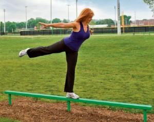 Outdoor Fitness Balance Beam